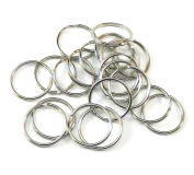 95 Light Weight Promotional Key Split Rings Size Nickel Plated Spring Steel