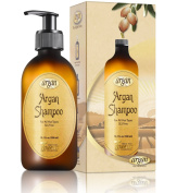 Moroccan Argan Oil Shampoo for All Hair Types - Daily SLS Free Shampoo 300ml - Cleanses the Scalp , Softens & Smoothes the Hair with a Shine Gloss Finish