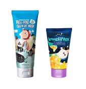 [Elizavecca] milky piggy Hell-Pore Clean Up nose Mask + KANGSI Pack (24k Gold Pack) 2pcs SET
