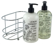 3 Pc Gift Set - Lemon Verbena and Olive Oil Duo in Caddy