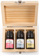 Precious Flowers Essential Oil Set. Includes 100% Pure, Therapeutic Grade Oils of Rose, Neroli, and Jasmine Absolute