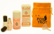 Bio-Oil Easy Applicator Kit | Stretch Marks | Scar Reduction | Uneven Skintone | Includes - 2 Fl Oz Bio Oil - Two 5 ml Glass Roll On Applicators - 1 Easy Pour Mini Funnel -Foxtrot Drawstring Satchel