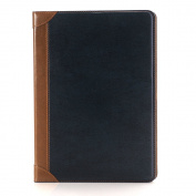 iPad Pro 12.9 Folio Case,SAVYOU Smooth Books Cover Folio Stand Case with Auto Sleep/Wake Function for 33cm iPad Pro 2015 Blue Yellow