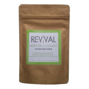 Revival Body Care Organic Body Scrub - Green Tea + Coconut