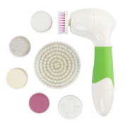 Harmony Life 7 in 1 Facial Brush Microdermabrasion Exfoliator System-Face Brush with 7 Brush Heads for Women & Men,Pore Minimise, Acne Spots,Acne Scar, Body Acne Treatment