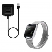 ABC® Milanese Magnetic Loop Bands Strap Bracelet + USB Magnetic Charger For Fitbit Blaze