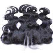 Wigshow Body Wave 3 Part Lace Frontal Closure 13x 4 With Baby Hair Bleached Knots Natural Black Brazilian Virgin Human Hair for Black Women 25cm