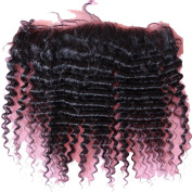 Rossy & Nancy 100% Raw Remy Virgin Human Hair Kinky Curly Style Bleached Knots 13*10cm Lace Frontal with Baby Hair