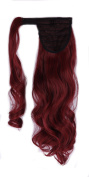 46cm 60cm Synthetic Long Curly Straight Wrap Around Ponytail Clip in Hair Extension