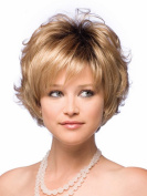SmartFactory Short Full Lace Human Hair Curly Wig Europe Style for Women