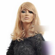 Coolsky 43cm Western Style Big wave Curly Wig Light Blonde Long Wig 100% Kanekalon Wig for Women
