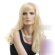 Coolsky 60cm Blonde Long Hair Big Waves Curly Party Cosplay Wig Heat Resistant