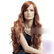 Coolsky 70cm Reddish Brown Colour Long wavy Hair Cosplay Wig Western Style 100% Kanekalion