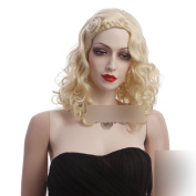 Coolsky 46cm Tress Wig Long Curly Blonde Wig Heat Resistant Sexy . Cosplay Korean Style