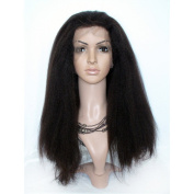 Remy Queen® Virgin Brazilian Hair Human Hair Wigs Kinky Straight Full Lace Wig for Black Women