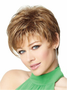 B-G New Fashion Charming Short Kanekalon Gold Natural Hair Wigs As Real Hair Wigs