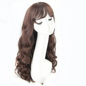 28 INCH (70CM)High Quality Women's Long Full Curly Dark Brown Hair Wig Cosplay Wig Party Wigs