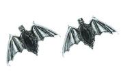 Black Stone Gothic Bats Hair Clips Deathrock Jewellery