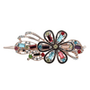 Totoroforet Forget Me Not Forever Crystal Glass & Rhinestones Hairclip/ Barrette/ Hair Claw Large Size--