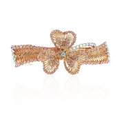 Crystal Clover Hollow Out Metal Hair Clips Women Hair Pins Barrettes