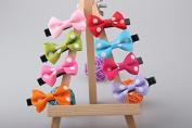 OliaDesign® 8pcs 7.6cm Boutique Hair Bows Girls Kids Children Alligator Clip Grosgrain Ribbon Headbands 8 Colour