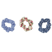 Lux Accessories Fabric Elastic Scrunches