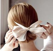 13cm Bow Fashion Sweet Elegant Korean Style Big Bowknot French Barrette French Clip Bow Headband Hair Accessory ...