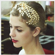 Fashion cat Golden leaves bride tyre crown Dress style decoration Wedding accessories modelling