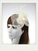 Everain 1PC Fashion Lady Girl Feather Flower Hat Gauze Veil Headband Hairband Girl Stretchable Hairbandand Girl Stretchable Hairband