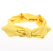 Everain 1PC Lady Girl Solid Rabbit Ears Cotton Knot Headband Hairband Girl Stretchable Hairband