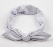 Everain 1PC Lady Girl Solid Rabbit Ears Cotton Knot Headband Hairband Girl Stretchable Hairband