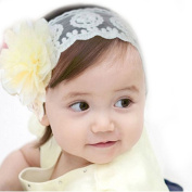 FEITONG Fashion Child Baby Girl Elastic Lace Flower Headband Hairband Hair Accessories