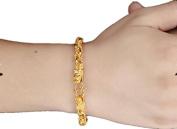Classy Men 18K Gold-Plated Double Dragon Clasp Handmade Trinkets Bracelet