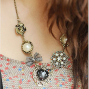 Classy Multilayer Rose Heart-shaped Bow Pearl Necklace Chain