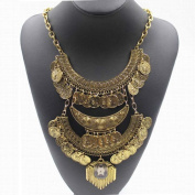 Women Bohemian Jewellery Vintage Choker Coin Statement Necklace Wensltd
