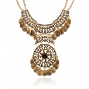 Women Bohemian Jewellery Choker Coin Statement Necklace Wensltd Clearance!