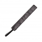 BANDED Black Silver Metallic 2.5cm Headband