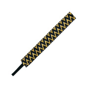BANDED Black and Gold Static Aztec 2.5cm Headband