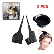 2PCS OPCC Brush Bowl Combo Colouring Brush Kit 3 pcs Set Tint Tool Bleach,Salon Hair Colouring Dyeing Kit Colour Dye Brush Comb,Hair Dye Colour.