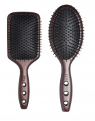 1907TM (Original Series) Hair Paddle Ionic Ball Tipped Nylon Pins with Anti Static Air Cushion Hair Brush NBB004, NBB001