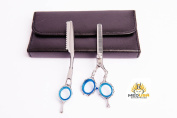 Professional Polish High Quality Japanese Stainless Steel Barber Hair Thinning / Texturizing Scissor & Thinner Razor set 14cm With Free Packing