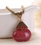A & C Fashion and Charm Red Star Bohemia Necklace for Women. Indian Weave Necklace for Girl.