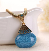 A & C Fashion and Charm Blue Star Bohemia Necklace for Women. Indian Weave Necklace for Girl.