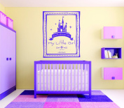 "Design with Vinyl RAD 1090 2.5cm You'll Always Be My Little Girl. - John Bunch Fairy Tale Princess Castle Girl Baby Teen Bedroom"" Vinyl Wall Decal, 30cm x 46cm , Purple"