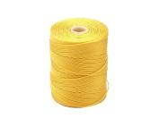 C-LON Fine Weight Bead Cord, Golden Yellow - 0.4mm, 136 Yard Spool