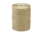 C-LON Fine Weight Bead Cord, Flax - 0.4mm, 136 Yard Spool