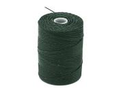 C-LON Fine Weight Bead Cord, Forest Green - 0.4mm, 136 Yard Spool