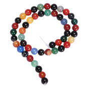 """AAA Natural Rainbow Colours Agate 10mm Gemstone Round Loose Beads For Jewellery Making 15.5"""" (1 strand) GC3-10"""