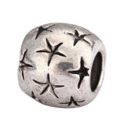 5 x Shooting Stars Charms Beads Antique Silver Tone Fits Pandora Biagi Troll Chamilla Other European Charm Bracelet #MEC-58