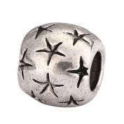 5 x Shooting Stars Charms Beads Antique Silver Tone Fits Pandora Biagi Troll Chamilla Other European Charm Bracelet #MEC-58